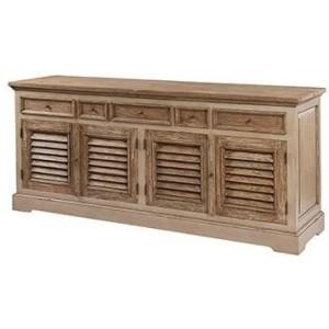 Pioneer Teak Furniture 5 Drawers 4 Doors Sideboard