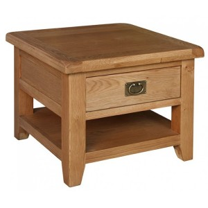 Sussex Oak Furniture 1 Drawer Lamp Table with Shelf