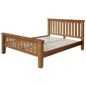 Sussex Oak Furniture 4ft6in Double Bed Frame