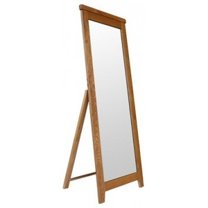 Sussex Oak Furniture Cheval Mirror