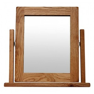 Sussex Oak Furniture Vanity Dressing Table Mirror