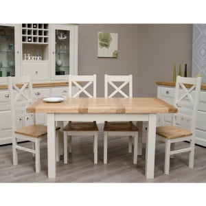 Homestyle Deluxe Painted Furniture 122cm Extending Dining Table
