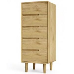 Homestyle Scandic Oak Furniture 5 Drawer Chest
