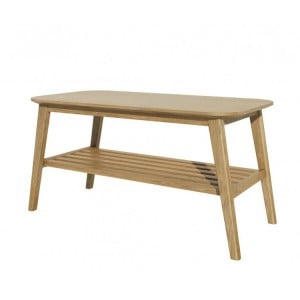 Homestyle Scandic Oak Furniture Coffee Table With Shelf