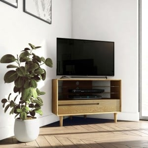 Homestyle Scandic Oak Furniture Corner TV Unit