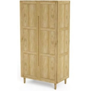 Homestyle Scandic Oak Furniture Double Wardrobe