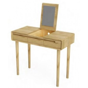 Homestyle Scandic Oak Furniture Dressing Table & Mirror