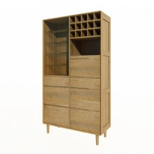 Homestyle Scandic Oak Furniture Drinks Cabinet