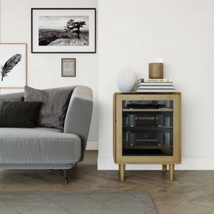 Homestyle Scandic Oak Furniture Hifi Unit