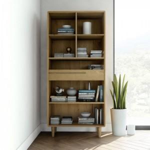 Homestyle Scandic Oak Furniture Large Bookcase