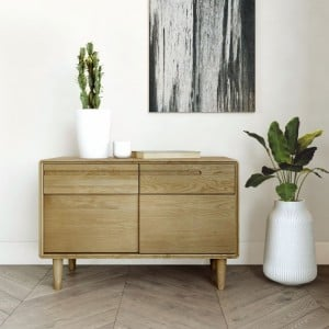Homestyle Scandic Oak Furniture Narrow Unit
