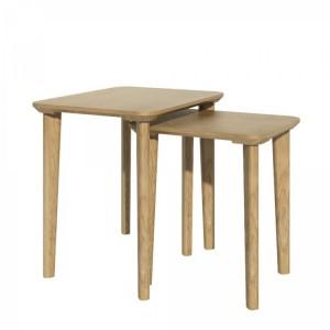 Homestyle Scandic Oak Furniture Rectangular Nest Of Tables