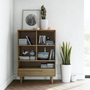 Homestyle Scandic Oak Furniture Small Bookcase - PRE ORDER