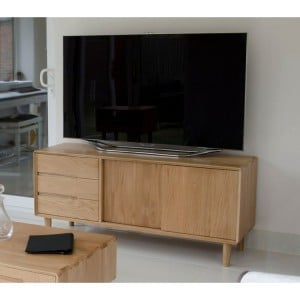 Homestyle Scandic Oak Furniture Wide Entertainment Unit
