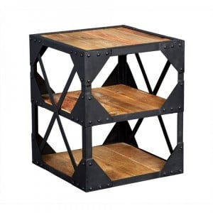 Ascot Industrial Furniture Side Table/ Multimedia Cabinet