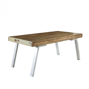 Aspen Reclaimed Iron & Wooden Furniture Dining Table