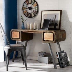 Aspen Reclaimed Iron & Wooden Furniture Desk/ Console Table