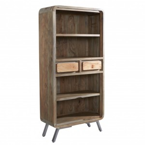Aspen Reclaimed Iron & Wooden Furniture Large Bookcase