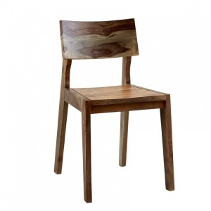 Aspen Reclaimed Iron & Wooden Furniture Dining Chair (Pair)