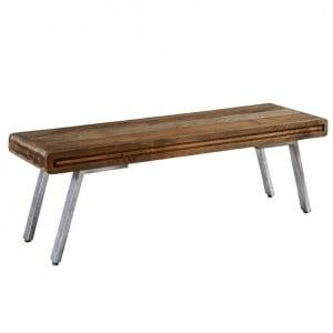 Aspen Reclaimed Iron & Wooden Furniture Dining Bench