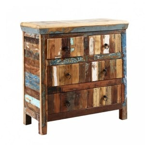 Coastal Reclaimed Wood Furniture 4 Drawer Chest of Drawers