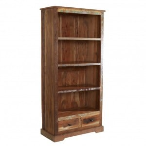 Coastal Reclaimed Wood Furniture Large Bookcase