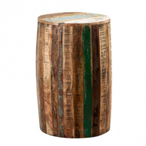 Coastal Reclaimed Wood Furniture Drum Stool