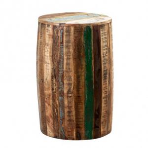 Coastal Reclaimed Wood Furniture Drum Stool