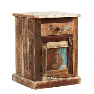 Coastal Reclaimed Wood Furniture Bedside Table