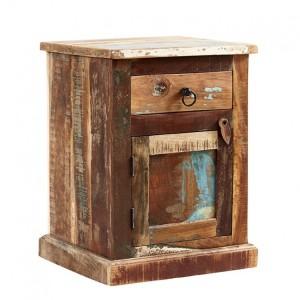 Coastal Reclaimed Wood Furniture Bedside Table