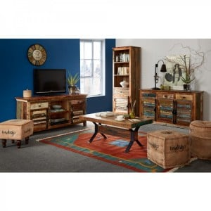 Coastal Reclaimed Wood Furniture Living Room Set