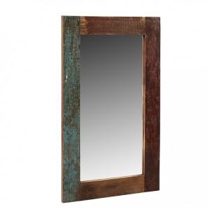 Coastal Reclaimed Wood Furniture Rectangular Mirror