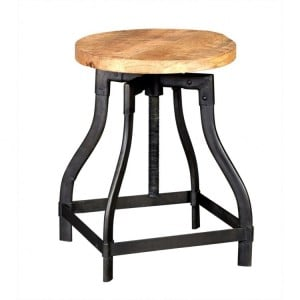 Cosmo Industrial Furniture Round Stool