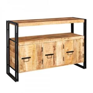 Cosmo Industrial Furniture 3 Door Sideboard