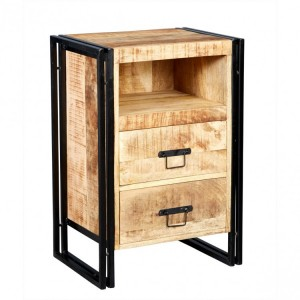 Cosmo Industrial Furniture Bedside Cabinet