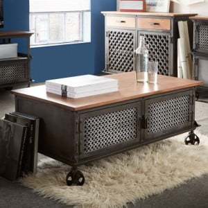 Evoke Industrial Furniture 2 Door Coffee Table