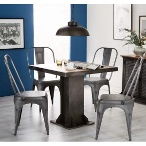 Evoke Industrial Furniture Square Dining Table