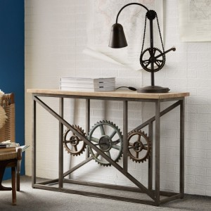 Evoke Industrial Furniture Console Table with Wheels