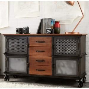 Evoke Industrial Furniture 4 Drawer Sideboard