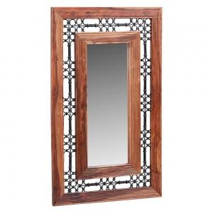 Jali Sheesham Furniture Large Rectangular Mirror