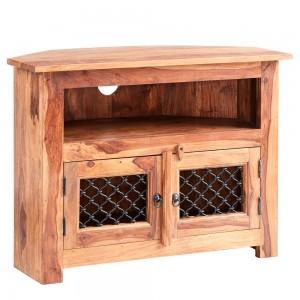 Jali Sheesham Furniture Corner TV Unit
