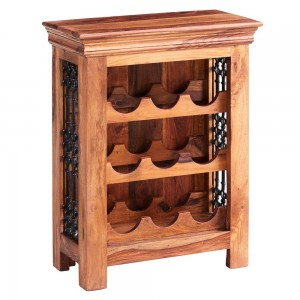 Jali Sheesham Furniture Wine Rack