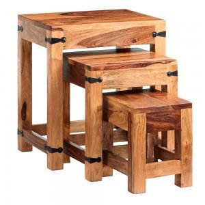 Jali Sheesham Furniture Nest of 3 Tables
