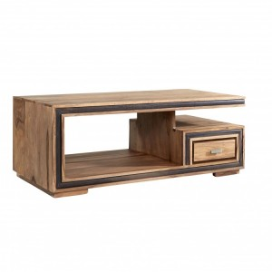Jodhpur Sheesham Furniture Coffee Table with Drawer