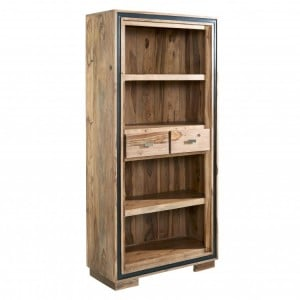 Jodhpur Sheesham Furniture Large Wide Bookcase