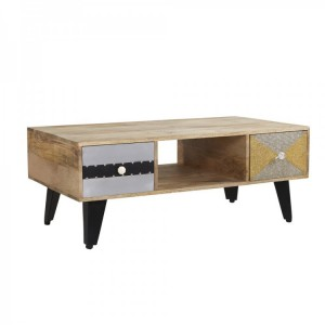 Sorio Reclaimed Furniture 2 Drawer Coffee Table