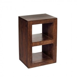 Toko Dark Mango Furniture 2 Hole Cube Display Unit
