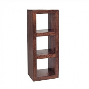 Toko Dark Mango Furniture 3 Hole Cube Display Unit
