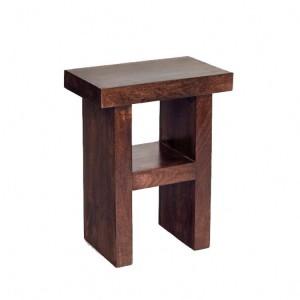Toko Dark Mango Furniture H Shaped Side Table/ Stool