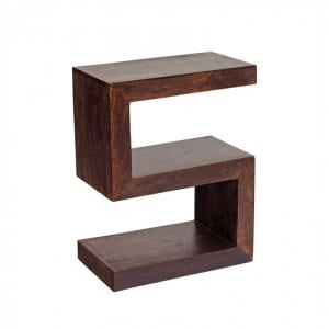 Toko Dark Mango Furniture S Shaped Display Unit